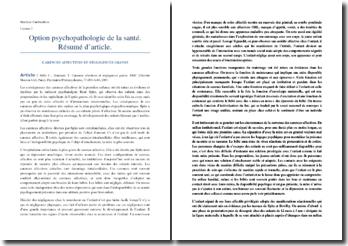 Mille et Henniaux, Carences affectives et négligences graves : résumé de l'article