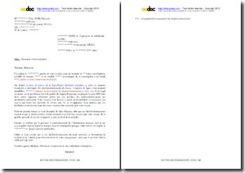 Lettre de demande d'indemnisation en cas de dysfonctionnements récurrents d'un réseau de téléphonie mobile
