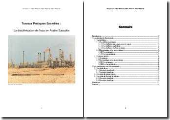 La désalinisation de l'eau en Arabie Saoudite (TPE)