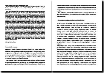 Balzac, Massimillia Doni : commentaire d'un extrait
