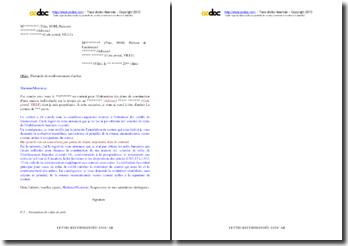 Lettre de demande de remboursement des arrhes versées à un architecte (crédit non obtenu)