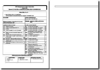 Fiche bilan ACRC : implantation de la nouvelle collection printemps/été 2009