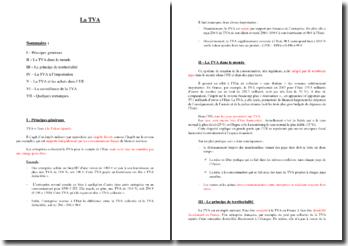 La TVA : quels sont ses principes fondamentaux ?