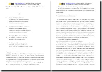 Baudelaire, A une dame créole : commentaire