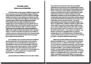 Daniel Defoe, Robinson Crusoé, Le dénouement : commentaire composé