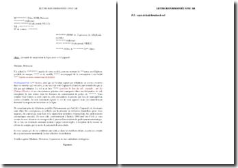Lettre de résiliation d'un contrat de téléphonie mobile suite au vol de l'appareil