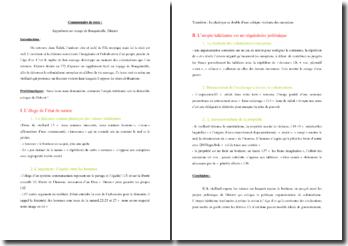 Diderot, Supplément au voyage de Bougainville, Extrait : commentaire composé