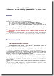 Marivaux, La Double Inconstance, Acte II scène 9, Extrait : commentaire composé