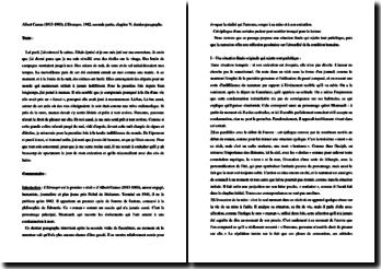 Camus, L'Etranger, Partie II, Chapitre V, Epilogue : commentaire composé