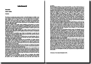 Montesquieu, Lettre persanes, Lettre XI, Usbek à Mirza : commentaire