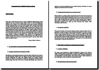 Bergson, Matière et mémoire : commentaire