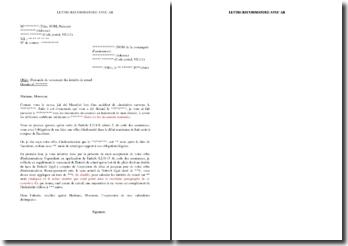 Lettre de demande de versement d'intérêts de retard pour offre d'indemnisation tardive