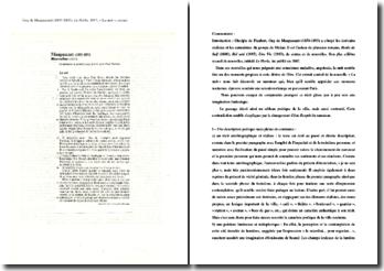 Maupassant, Le Horla, La nuit : commentaire