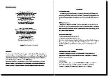Pierre Corneille, Le Cid, Acte I scène 6, Monologue de Don Rodrigue
