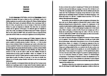 Paul Verlaine, Fêtes Galantes, Clair de Lune : commentaire
