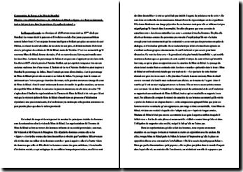 Stendhal, Le Rouge et le Noir, Les affinités électives : commentaire