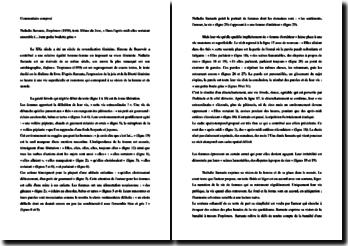 Nathalie Sarraute, Tropismes (dixième texte) : commentaire composé