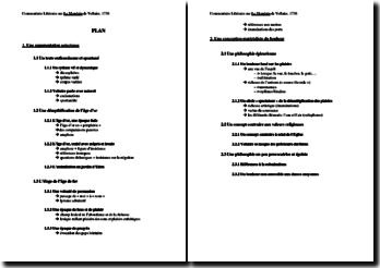 Voltaire, Le Mondain : commentaire composé