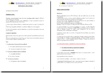 Montaigne, Les Essais (III, 6), Des Coches : commentaire composé