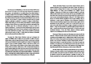La tolérance d'après le livre Traité sur la tolérance de Voltaire