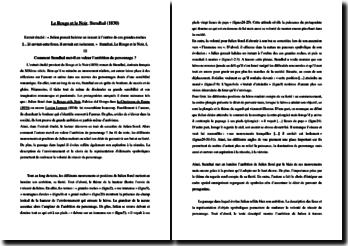 Stendhal, Le Rouge et le Noir, Extrait : commentaire composé