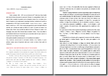 Valéry Larbaud, Amants, heureux amants : commentaire