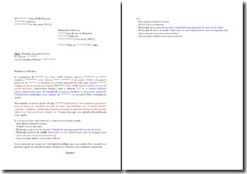 Lettre de demande de permis de visite (pour un condamné)