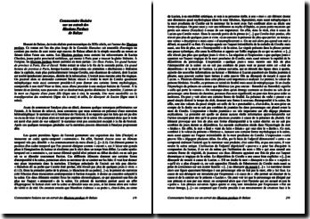 Balzac, Les Illusions perdues : la mort de Coralie