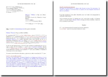 Lettre de demande de diminution/suspension d'une pension alimentaire (parent incarcéré)