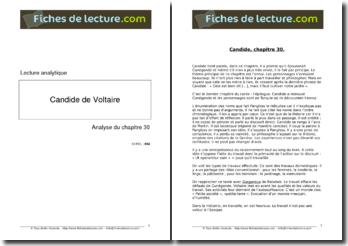 Voltaire, Candide, Chapitre 30 : lecture analytique