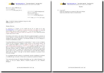 Lettre de demande de dispense de paiement d'un PV mérité (situation précaire)