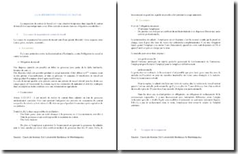 La suspension du contrat de travail : causes et régimes
