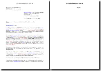 Lettre au juge pour demander le changement de résidence habituelle de votre enfant