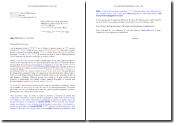 Lettre de saisine du juge pour enfants en cas de maltraitance de votre enfant