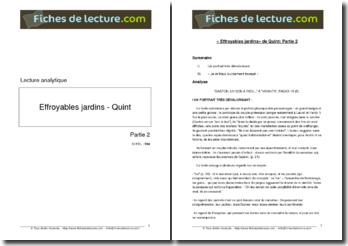 Quint, \ Quint, Effroyables jardins, Partie 2, Extrait : lecture analytique