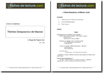 Mauriac, Thérèse Desqueyroux, Incipit : lecture analytique