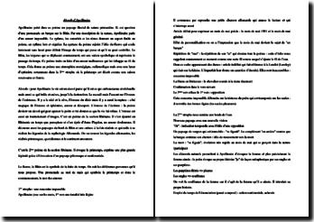 Apollinaire, Mai : étude linéaire