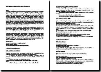 Racine, Phèdre, Acte II scène 5 : vers 670 à 711 : commentaire