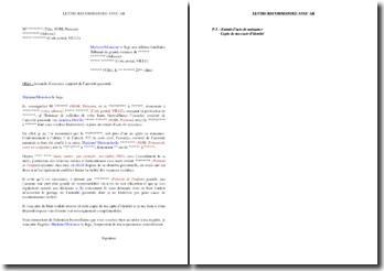Lettre au JAF pour demander l'exercice conjoint de l'autorité parentale (reconnaissance tardive de l'enfant)