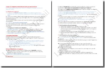 Les obligations contractuelles des parties dans un contrat de travail