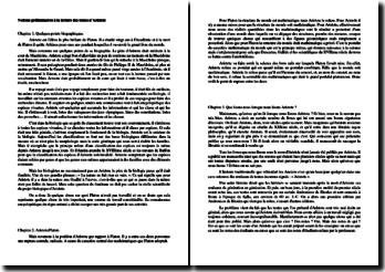 Notions préliminaires à la lecture des textes d'Aristote