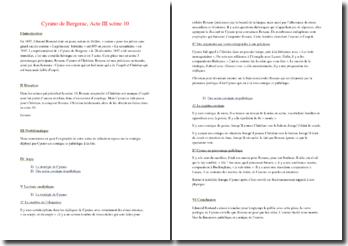 Rostand, Cyrano de Bergerac, Acte III scène 10 : commentaire composé