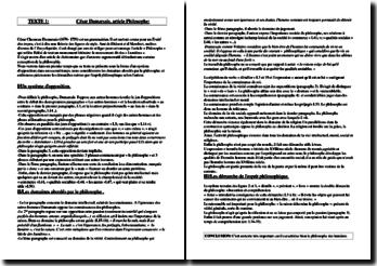César Dumarsais, L'Encyclopédie, article Philosophe
