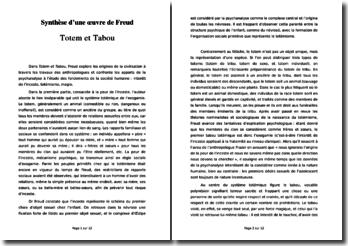 Sigmund Freud, Totem et Tabou