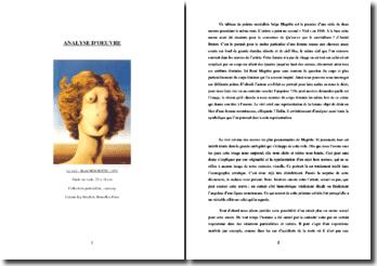 Magritte, Le viol : analyse de l'oeuvre
