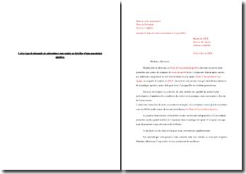 Lettre de demande de subvention d'une mairie en faveur d'une association sportive