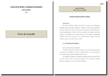 Comparaison entre l'adoption simple et l'adoption plénière