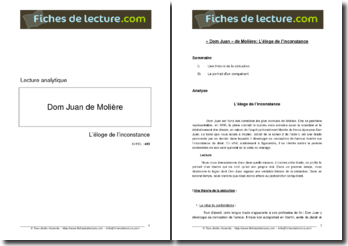 Molière, Dom Juan, Eloge de l'inconstance