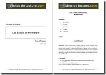 Michel de Montaigne, Essais, Avant-propos