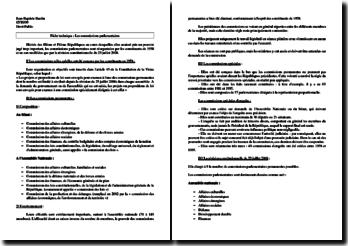Les commissions parlementaires : commissions permanentes, spéciales, etc.